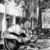 Busking for coins