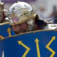 The Romans charge