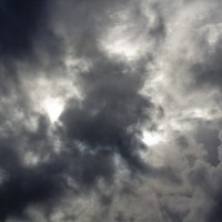 The angry sky