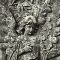 Angel on a stone
