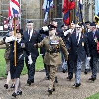 On parade at the Cathedral