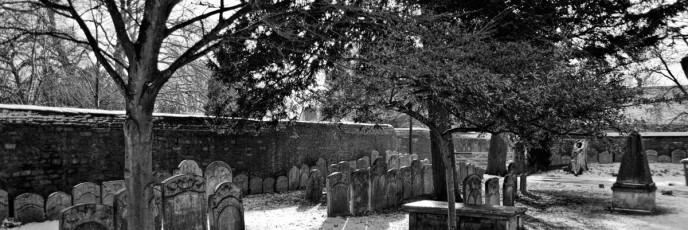 Gravestones in February